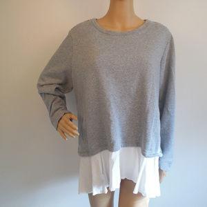 LOGO Lounge Lori Goldstein Sweatshirt Tunic Cotton